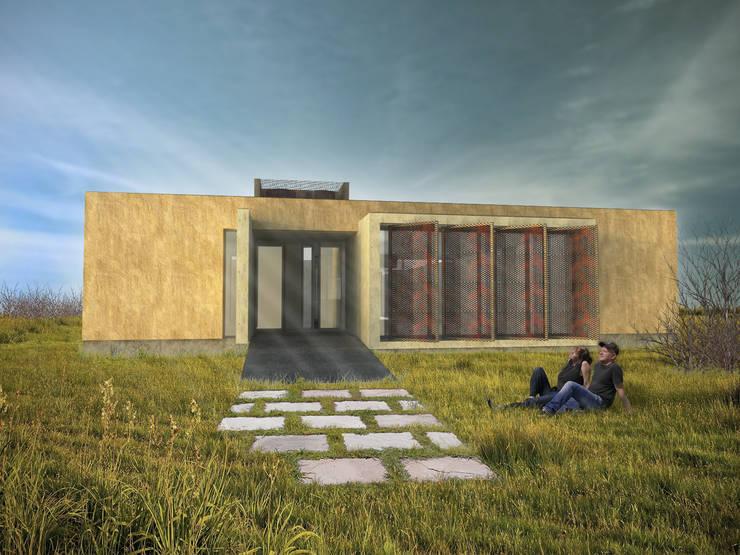 VIVIENDA DUAL Casas minimalistas de Arquitecto Juan Nicolás Bobba Minimalista