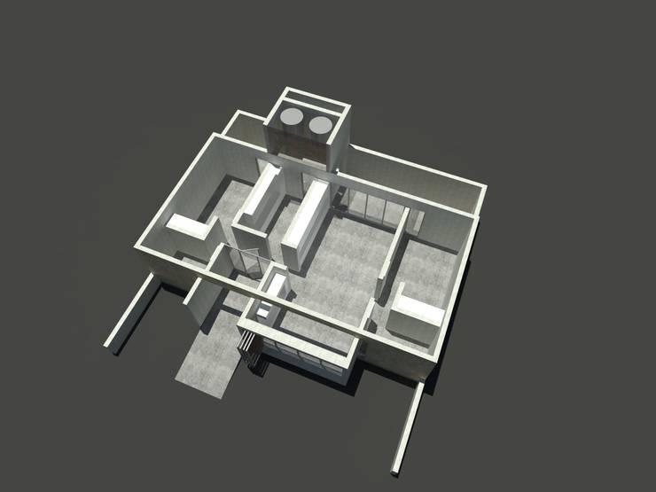 VIVIENDA DUAL Comedores minimalistas de Arquitecto Juan Nicolás Bobba Minimalista