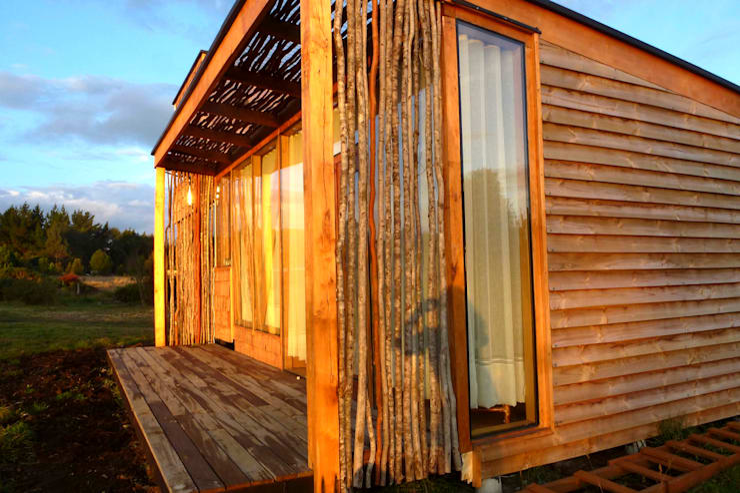 Casas de estilo  por PhilippeGameArquitectos, Moderno Madera Acabado en madera