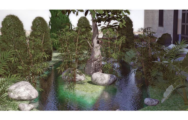 P2 Tasarım – Fulya Evi Bahçesi:  tarz Bahçe