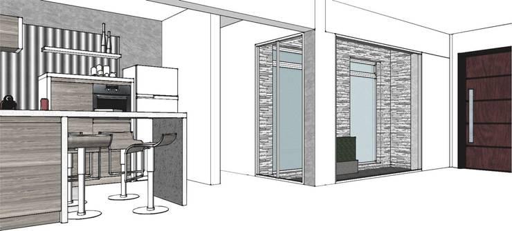 Antes y Después de una vivienda unifamiliar:  de estilo  por Arq. Maria Virginia Otero,