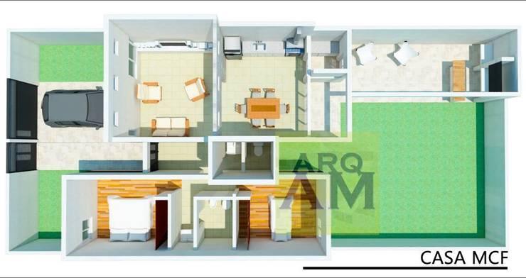 CASA MCF:  de estilo  por Amor Miquel Arquitectura