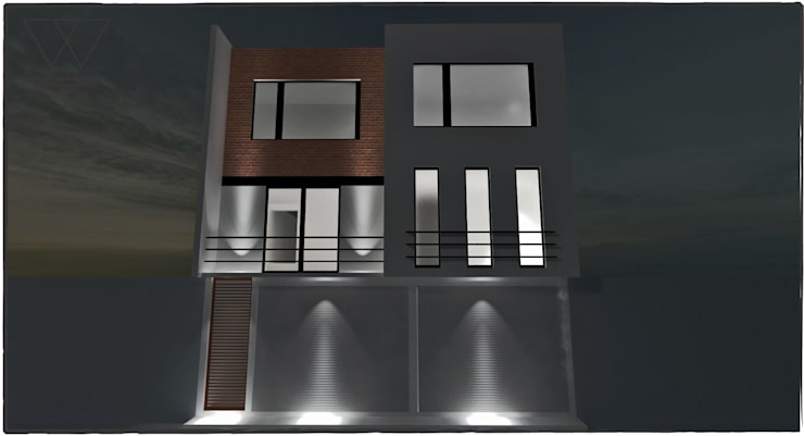 DEPARTAMENTO H.ILUSTRES Casas modernas de WIGO SC Moderno Ladrillos