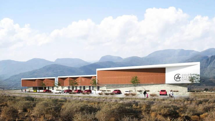 Colegio Alemán Chicureo:  de estilo  por Lambiasi Westenenk Arquitectos