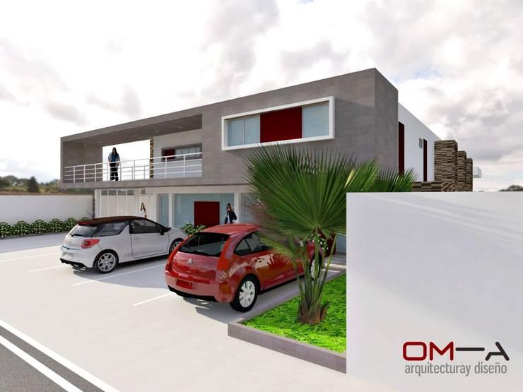 Edificio comercio-residencial: Casas de estilo  por om-a arquitectura y diseño