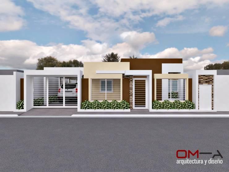 Diseño de vivienda unifamiliar: Casas de estilo minimalista por om-a arquitectura y diseño