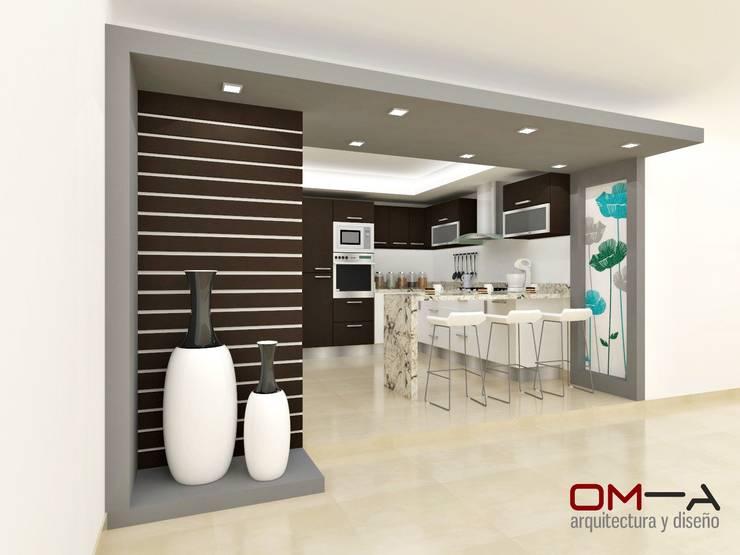 Diseño de cocina: Cocinas de estilo  por om-a arquitectura y diseño