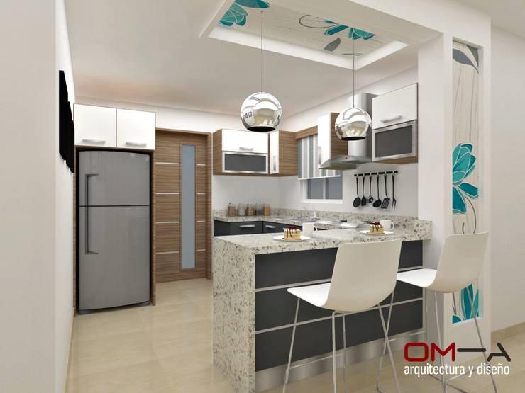 Cocinas de estilo minimalista por om-a arquitectura y diseño