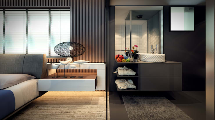 bed & bath: modern Bedroom by Im Designer studio