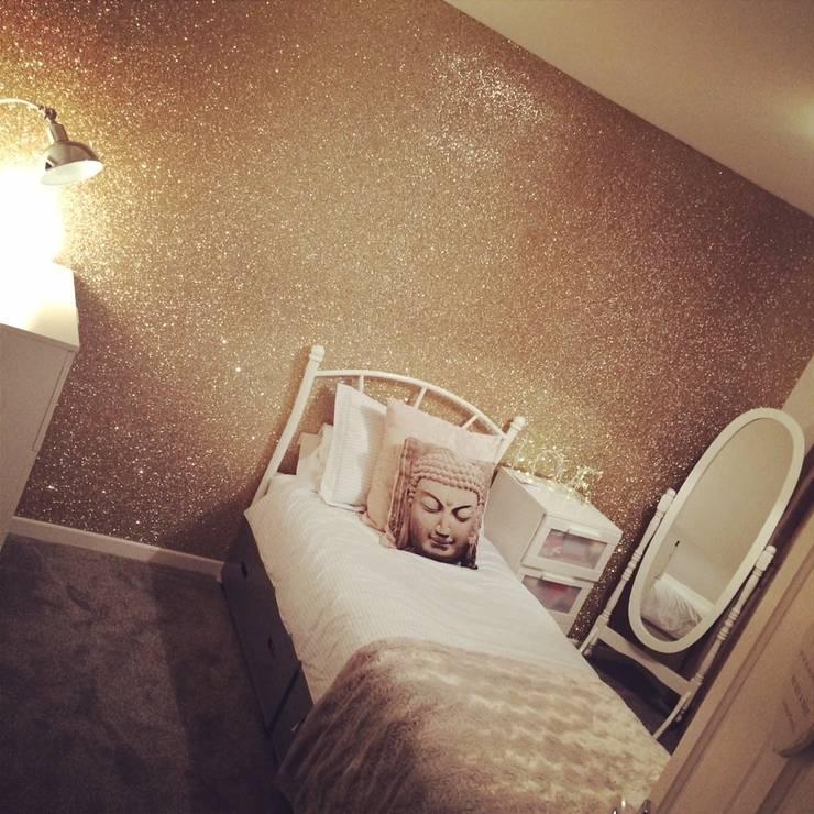 hiện đại  theo The Best Wallpaper Place - , Hiện đại Dệt may Amber/Gold