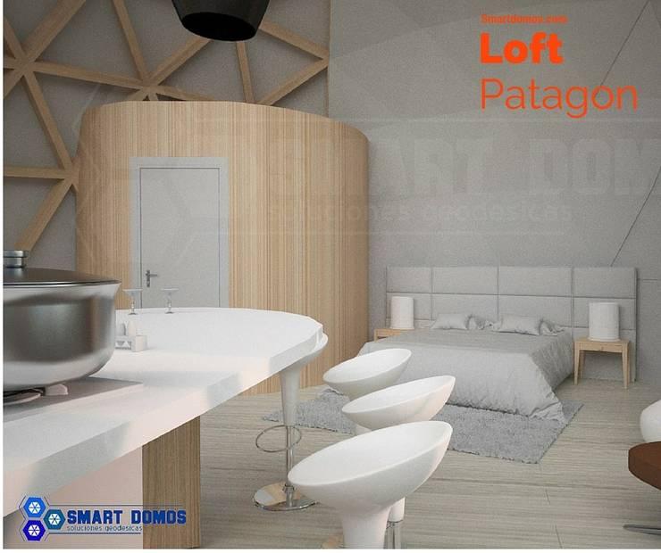 loft patagon: Dormitorios de estilo  por smart domos