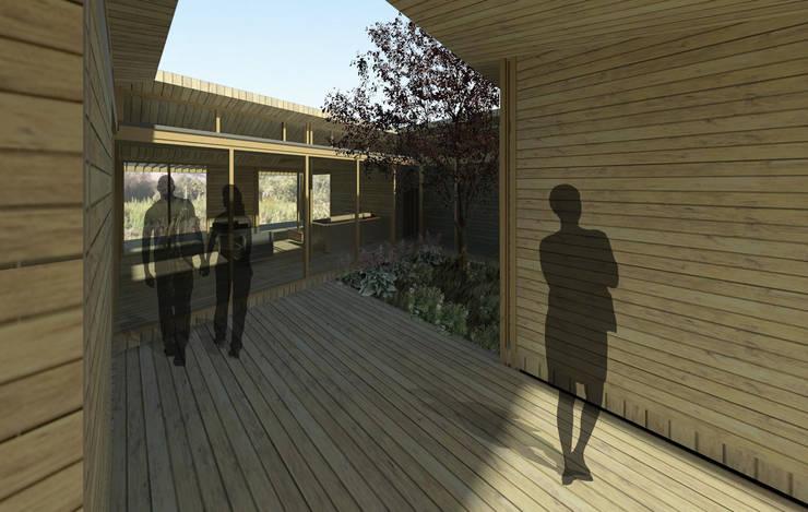 Casa Patio: Casas de estilo  por DAIBER & ACEITUNO Arquitectos,