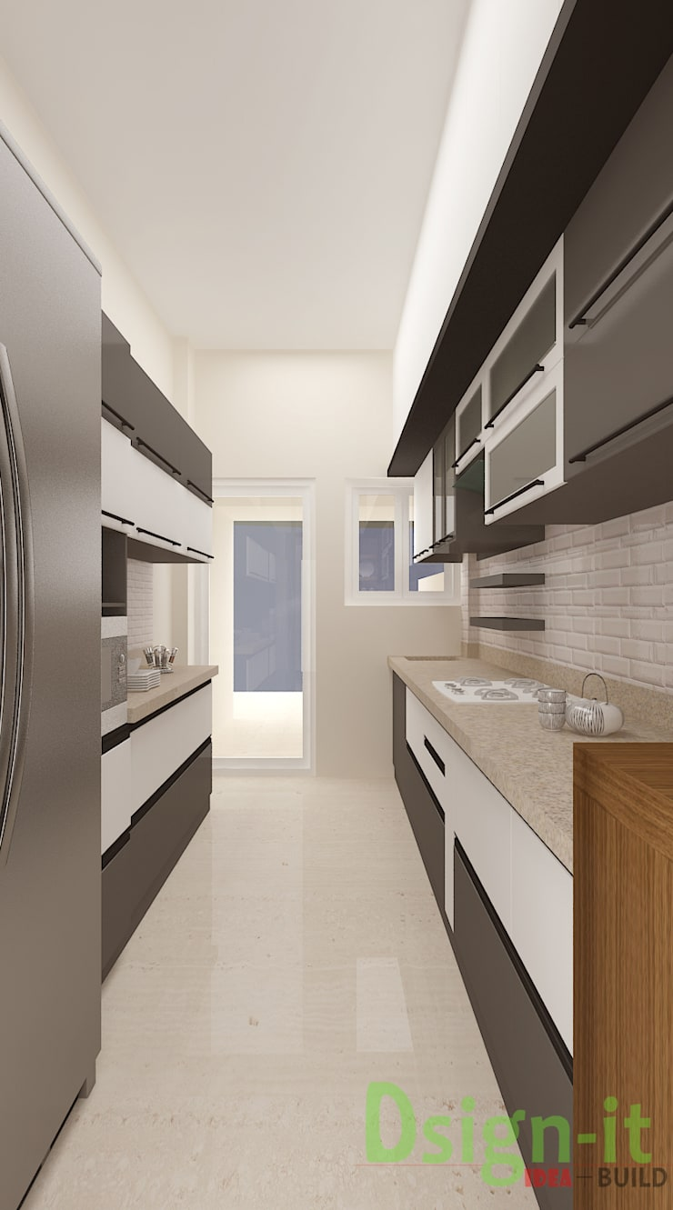 PROJECT-1 ( MR. Sunil , HSR LAYOUT ):  Kitchen by Dsign-it