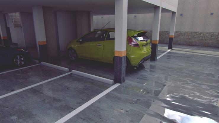 Apartamento residencial camuri: Garajes y galpones de estilo moderno por JM Diseños