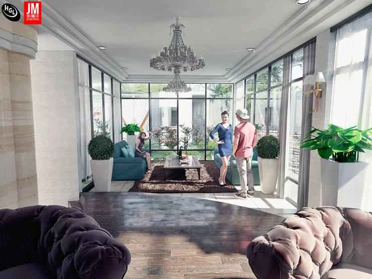 Apartamento residencial camuri: Salas / recibidores de estilo moderno por JM Diseños