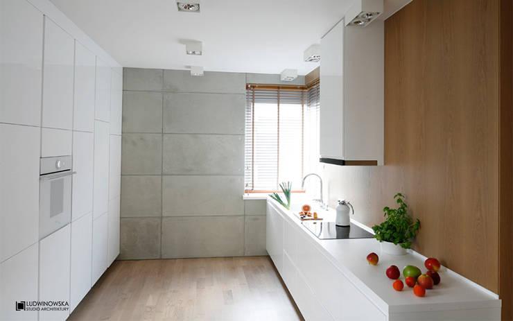 ASCETYCZNY AZYL: styl , w kategorii Kuchnia zaprojektowany przez Ludwinowska Studio Architektury