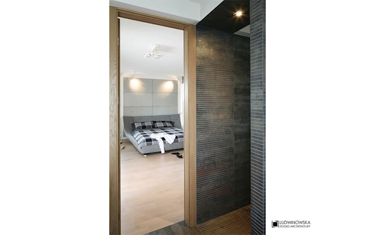ASCETYCZNY AZYL: styl , w kategorii Łazienka zaprojektowany przez Ludwinowska Studio Architektury