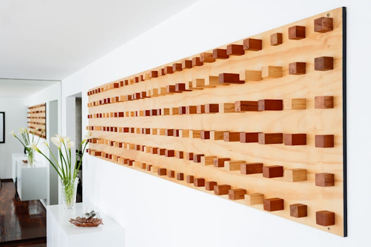 Departamento Doig: Salas / recibidores de estilo  por Oneto/Sousa Arquitectura Interior, Moderno