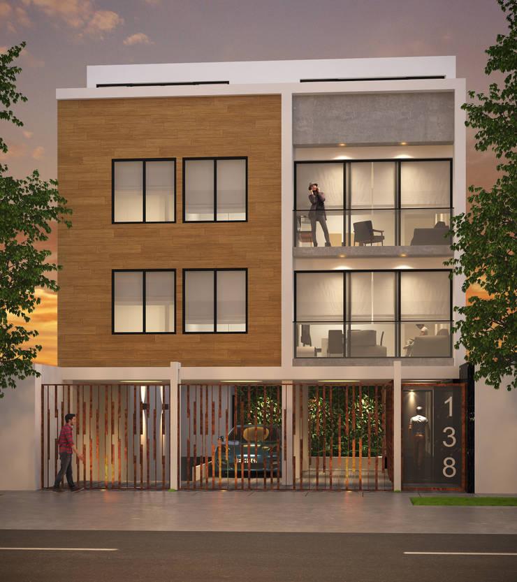 Edificio Prime:  de estilo  por Oneto/Sousa Arquitectura Interior,