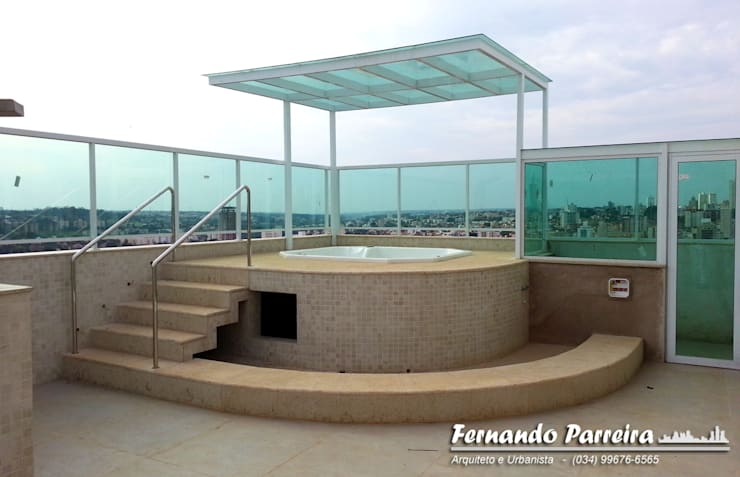 Spa de estilo  por Fernando Parreira Arquitetura