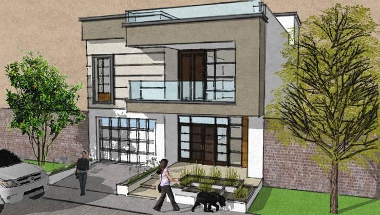 Diseño de Vivienda unifamiliar:  de estilo  por Arquitectura e Ingenieria GM S.A.S
