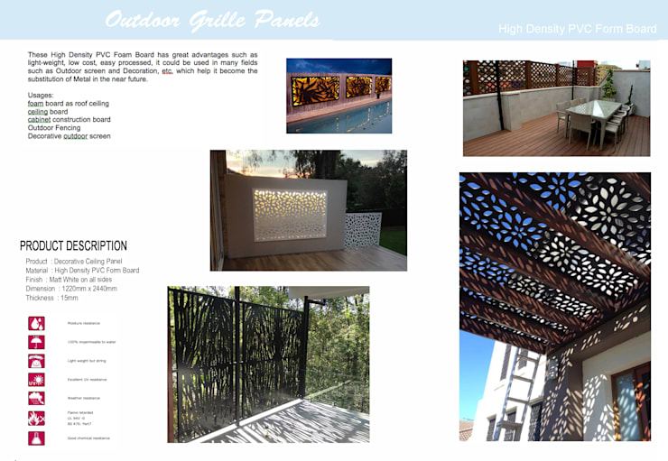 Outdoor Grille Panel:  Garden  by series supplies