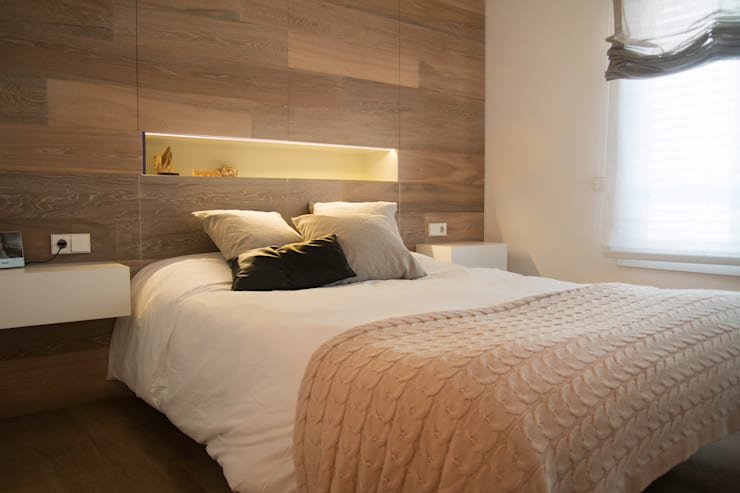 Projekty,  Sypialnia zaprojektowane przez Gramona Interiors