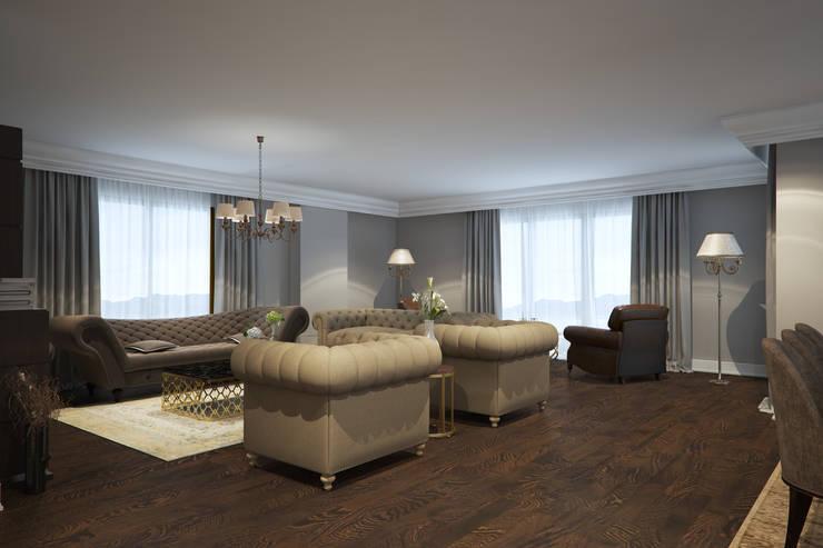 yücel partners – M&E TEKİNTAŞ HOME: klasik tarz tarz Oturma Odası