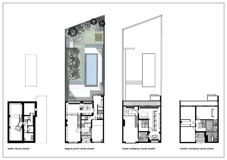 Woonhuis Wijnhoven - Beijnsberger: moderne Huizen door bv Mathieu Bruls architect