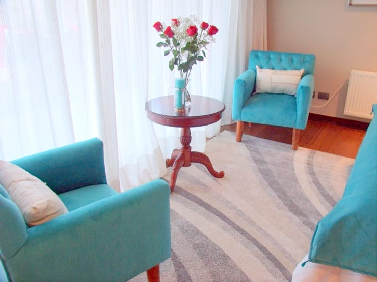 Dormitório Turquesa: Dormitorios de estilo  por AnnitaBunita.com, Mediterráneo