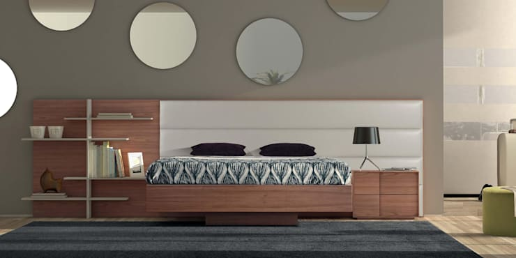 Mobiliário de quarto Bedroom furniture  www.intense-mobiliario.com  Boris http://intense-mobiliario.com/product.php?id_product=3221: Quarto  por Intense mobiliário e interiores;