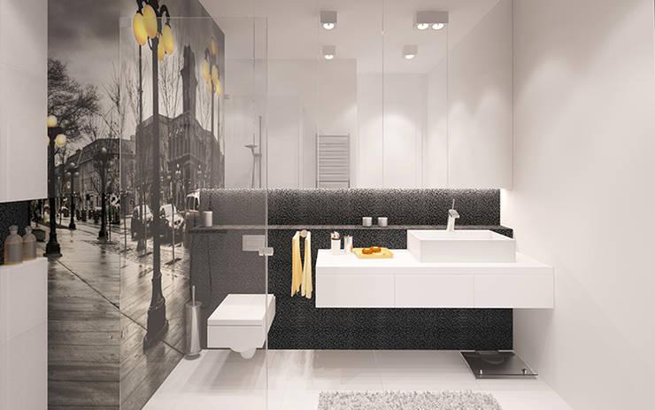 MINIMALIZM DLA SINGLA: styl , w kategorii Łazienka zaprojektowany przez Ludwinowska Studio Architektury
