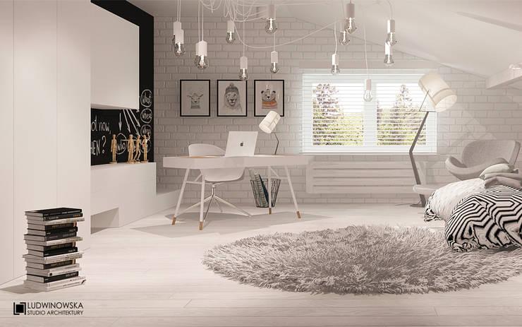 MODERN HAMPTON: styl , w kategorii Sypialnia zaprojektowany przez Ludwinowska Studio Architektury