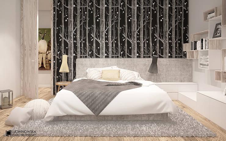 JELENIM TROPEM : styl , w kategorii Sypialnia zaprojektowany przez Ludwinowska Studio Architektury