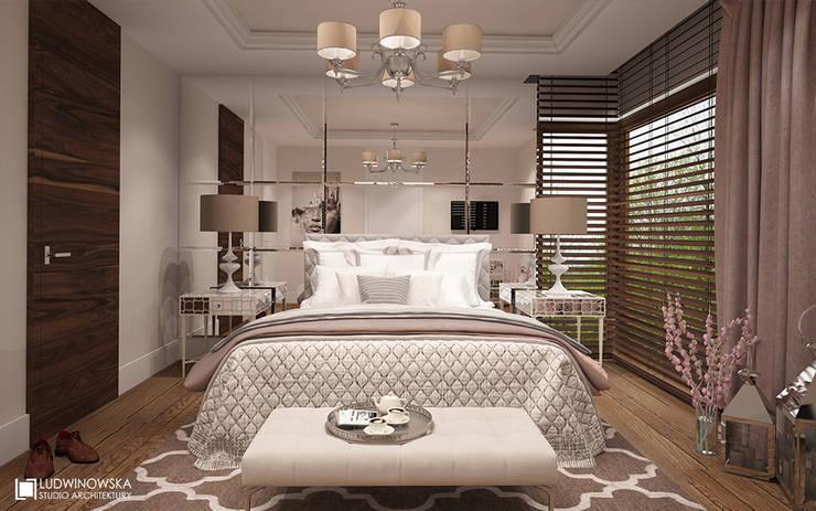 CHARME&CHIC: styl , w kategorii Sypialnia zaprojektowany przez Ludwinowska Studio Architektury