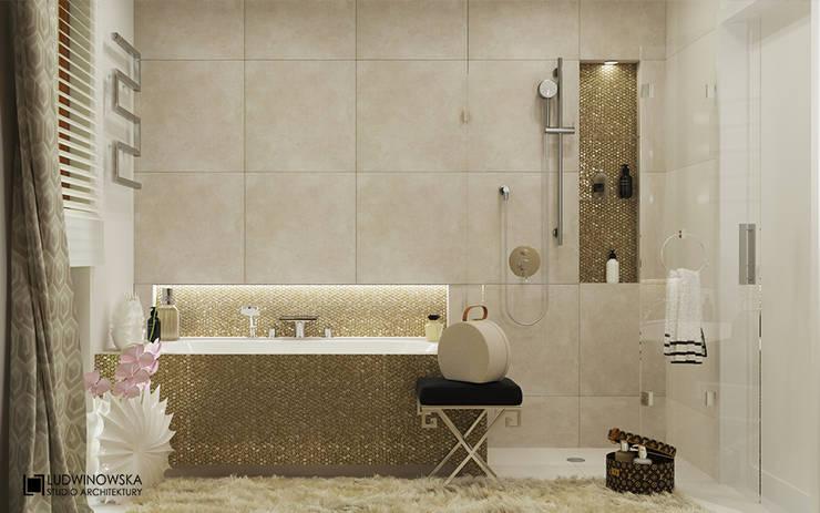CHARME&CHIC: styl , w kategorii Łazienka zaprojektowany przez Ludwinowska Studio Architektury