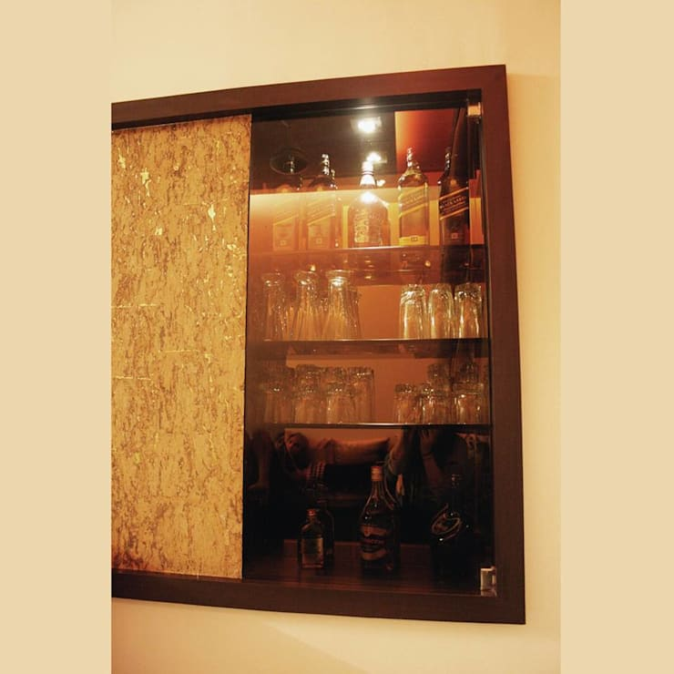 Bar Detail:  Living room by Neha Changwani,