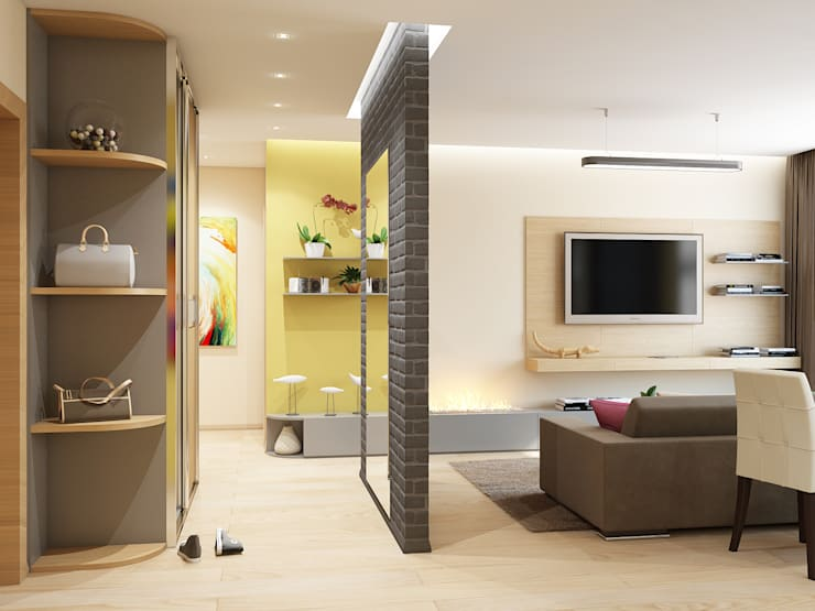 Квартира в ярких тонах: Коридор и прихожая в . Автор – Tatiana Zaitseva Design Studio
