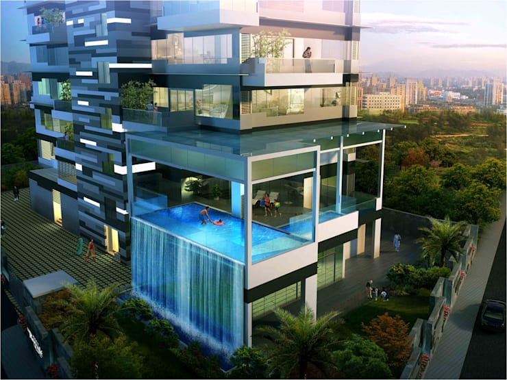 ANAND RESIDENCY: modern Houses by HK ARCHITECTS