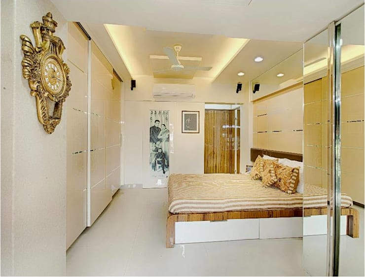 2BHK RESIDENCE:  Bedroom by HK ARCHITECTS