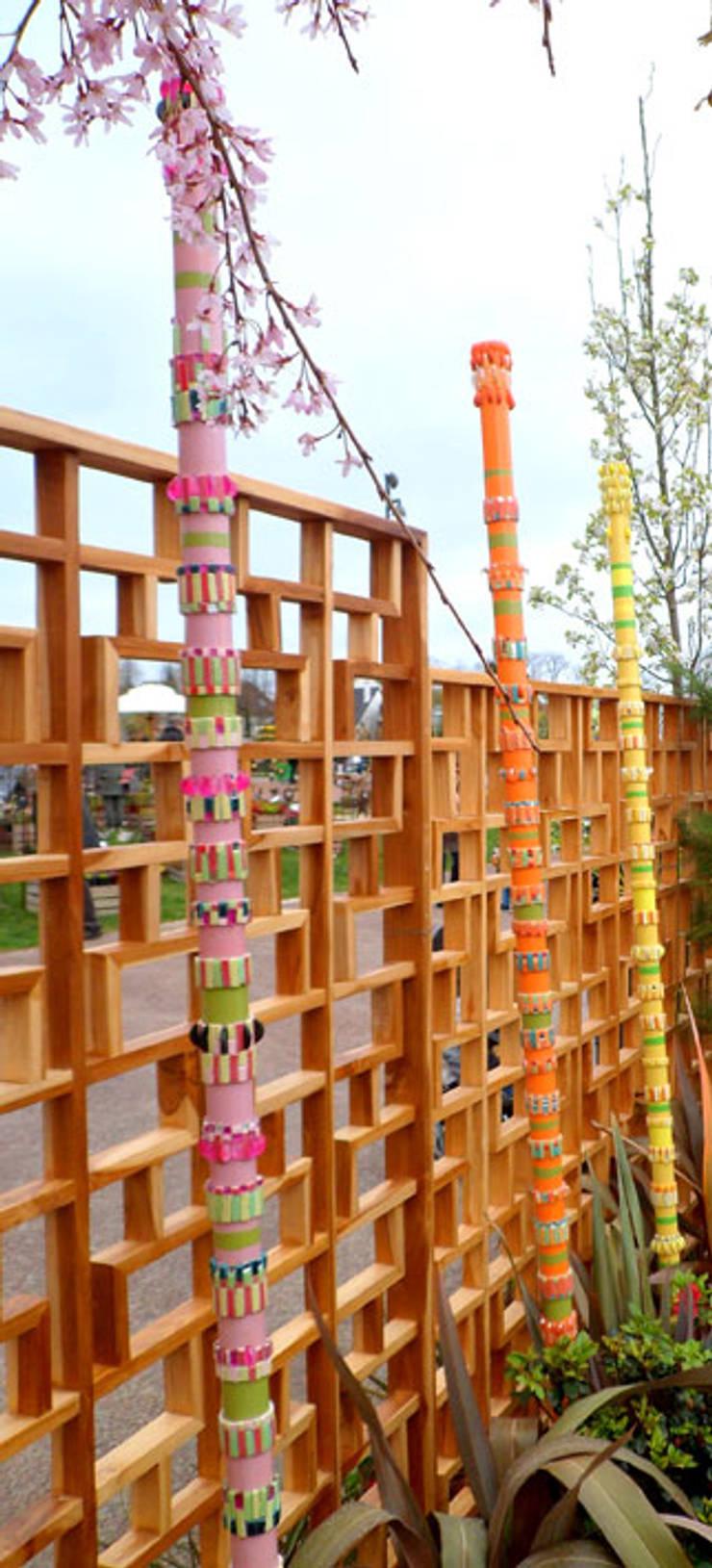 Totems de mosaique : Jardin d'hiver de style  par Lechevallier stephanie