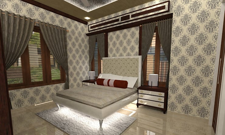 Bedroom:   by MAPLE TREE