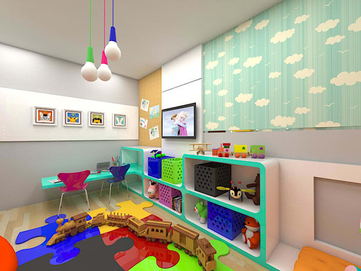 eclectic Nursery/kid's room by Plano A Studio