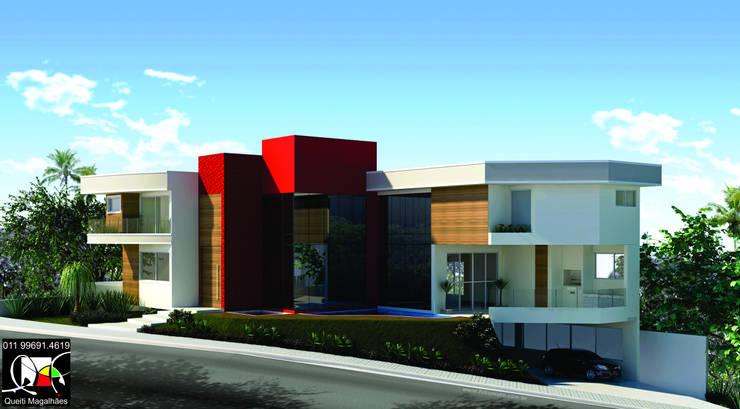 Residência C&E: Casas  por Queiti Magalhães Arquitetura e Decorações,