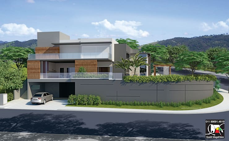 Residência V&A: Casas  por Queiti Magalhães Arquitetura e Decorações,