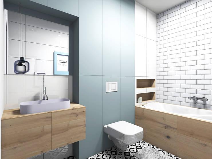 Apartament na Ochocie | Warszawa | Łazienka: styl , w kategorii Łazienka zaprojektowany przez Comfytura Studio