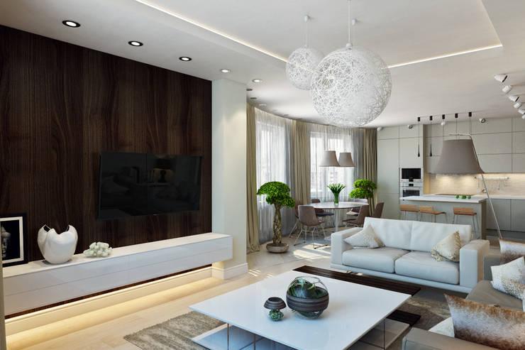 Living room by Design Studio Details, Scandinavian Wood Wood effect