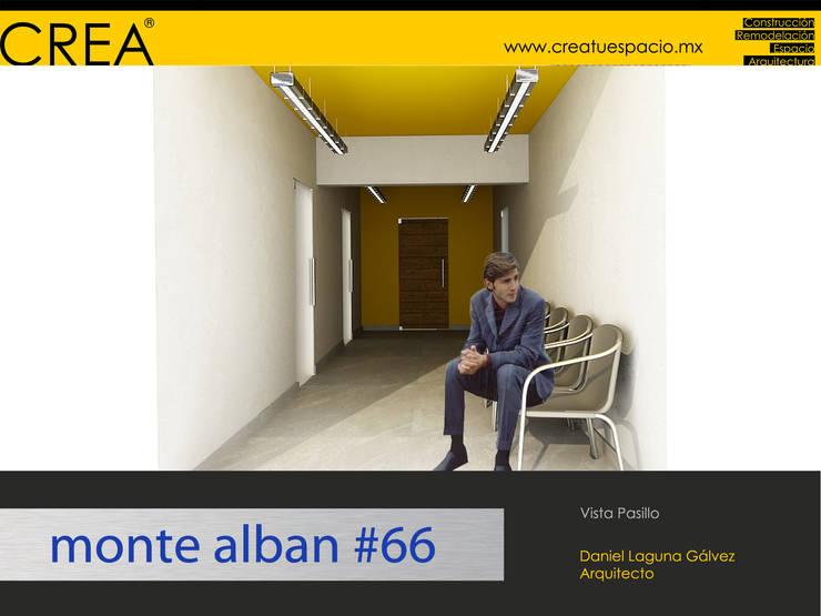 Pasillo: Pasillos y recibidores de estilo  por CREATUESPACIO.MX