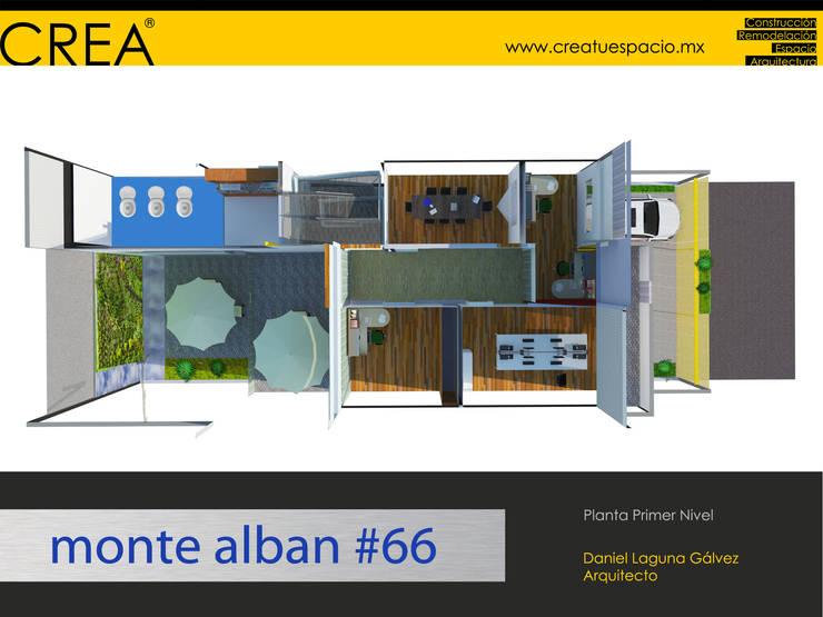 Monte Albán #66: Estudios y oficinas de estilo  por CREATUESPACIO.MX