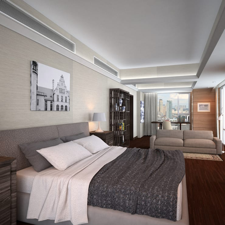 Discovery Primea | Manila:  Bedroom by Nelson W Design, Modern